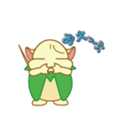 キャラメルランド ネズミ(緑)(個別スタンプ:12)