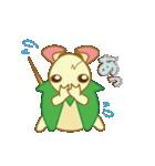 キャラメルランド ネズミ(緑)(個別スタンプ:13)
