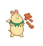 キャラメルランド ネズミ(緑)(個別スタンプ:25)