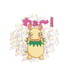 キャラメルランド ネズミ(緑)(個別スタンプ:26)
