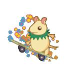 キャラメルランド ネズミ(緑)(個別スタンプ:27)
