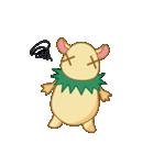 キャラメルランド ネズミ(緑)(個別スタンプ:36)