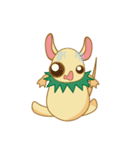 キャラメルランド ネズミ(緑)(個別スタンプ:37)