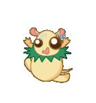 キャラメルランド ネズミ(緑)(個別スタンプ:38)