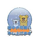 しろくま&黄熊のあけおめ(お正月)&メリクリ(個別スタンプ:8)