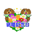 トイプードルのカラフル年中行事&イベント(個別スタンプ:03)