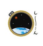 JAXA公式 宇宙飛行士と宇宙ステーション(個別スタンプ:37)