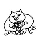 毛の祭典 白猫編(個別スタンプ:2)