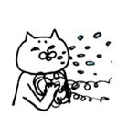 毛の祭典 白猫編(個別スタンプ:27)