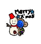青いやつのさる(クリスマス&年末年始)(個別スタンプ:04)