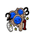 青いやつのさる(クリスマス&年末年始)(個別スタンプ:24)