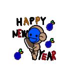 青いやつのさる(クリスマス&年末年始)(個別スタンプ:28)