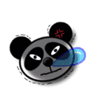 吹き出し・居眠りパンダ2