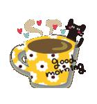 【敬語】北欧風♥大人かわいい黒ネコ(個別スタンプ:01)