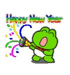 あけおめ!お正月!カエル(蛙)のスタンプ(個別スタンプ:14)