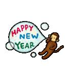 猿の干支スタンプ2 お正月(個別スタンプ:05)