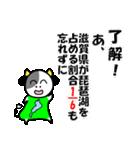 琵琶湖は、滋賀県の1/6ということを伝える(個別スタンプ:04)