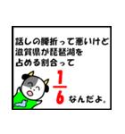 琵琶湖は、滋賀県の1/6ということを伝える(個別スタンプ:13)