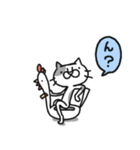 猫のグリース(個別スタンプ:10)