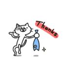 猫のグリース(個別スタンプ:16)