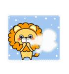 冬に便利なネコライオン(個別スタンプ:3)