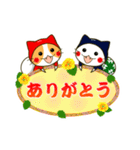 泥棒ねこ&サンタねこ(個別スタンプ:01)