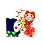 泥棒ねこ&サンタねこ(個別スタンプ:25)