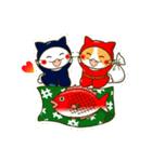 泥棒ねこ&サンタねこ(個別スタンプ:26)