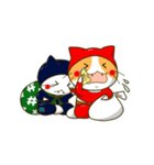 泥棒ねこ&サンタねこ(個別スタンプ:27)