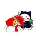 泥棒ねこ&サンタねこ(個別スタンプ:30)