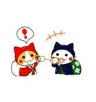 泥棒ねこ&サンタねこ(個別スタンプ:32)