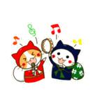 泥棒ねこ&サンタねこ(個別スタンプ:33)