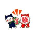 泥棒ねこ&サンタねこ(個別スタンプ:35)