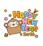 ■□あけおめおさるさんスタンプ2016年□■(個別スタンプ:03)