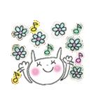 花*花うさぎスタンプ(字が大きい)(個別スタンプ:33)
