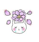 花*花うさぎスタンプ(字が大きい)(個別スタンプ:34)