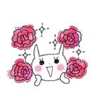 花*花うさぎスタンプ(字が大きい)(個別スタンプ:36)