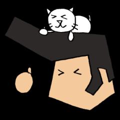 リーゼントおじさんと猫