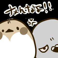 鳩アニキと子分のスズメ
