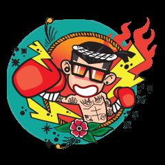 Old School Fighter Boy