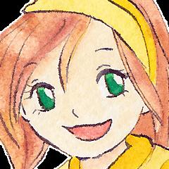 黄色いバンダナのユカコさん