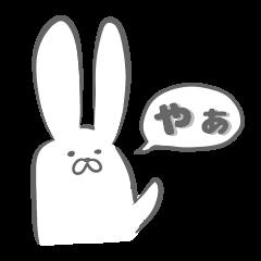 白いウサギちゃん