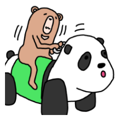 [LINEスタンプ] エンジョイくまクマ熊~秋田弁クマ+~