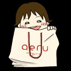 aeru×おもち はじめての成長スタンプ
