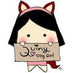 Quiny Dog Girl
