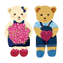 teddy bear boy and girl