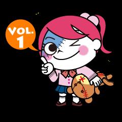 文字入り ゾンピちゃんの日常 Vol.1