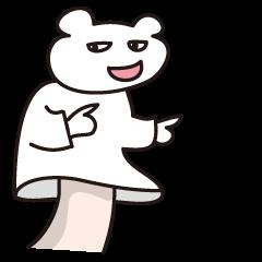 人の手を借りて言い返すクマ