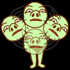 [LINEスタンプ] 落ち着け!緑男