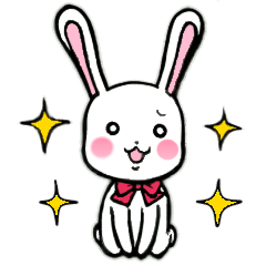 愉快なウサギの使えるスタンプ